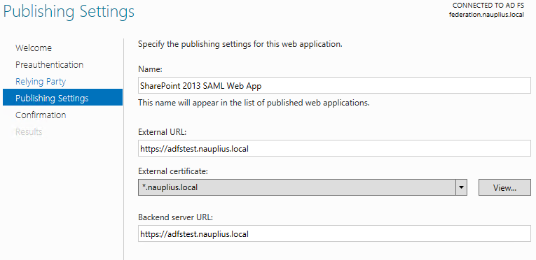SharePoint and the Web Application Proxy Role · The