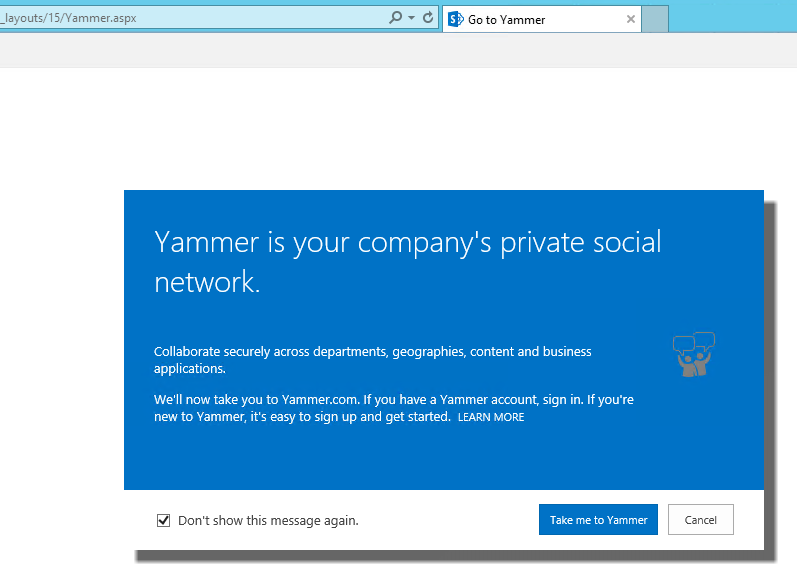 SharePoint 2013 and Office 365 with Yammer Integration · The